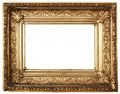 Ornamented Picture Frame Gold (Path Included) Royalty Free Stock Photo