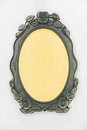 Ornamented, silver plated empty picture frame Royalty Free Stock Photo