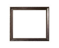 Ornamented wood empty picture frame Isolated on white background Royalty Free Stock Photo