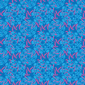 Ornamento azul do batik Imagem de Stock Royalty Free