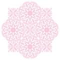Ornamento cor de rosa do vetor dos pontos Fotografia de Stock
