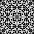 Ornamento do monochrome do vintage Foto de Stock Royalty Free