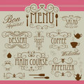 Ornamento do vintage do menu Foto de Stock Royalty Free