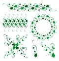 Ornamento floral abstracto de la decoración del vector Imágenes de archivo libres de regalías