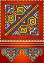 Ornamento para o tapete vermelho. Pattern.Illustration. Imagens de Stock