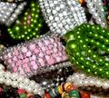 Ornaments background photograph beautiful female bracelets Royalty Free Stock Photos