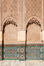 Ornaments in the ben youssef medersa in marrakesh located medina of on november morocco medina is part of Royalty Free Stock Photo