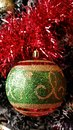 Ornaments Of A Colorful And Sketchy Christmas Tree