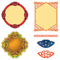 Ornaments set of and frames vector illustration Stock Images