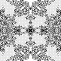 Ornate abstract lace seamless pattern Royalty Free Stock Photography