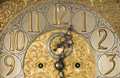 Ornate antique clock the face of an grandfather made by tiffany and co Royalty Free Stock Photos