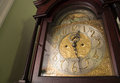 Ornate antique clock the face of an grandfather made by tiffany and co Royalty Free Stock Image