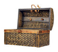 Ornate antique wooden treasure chest Royalty Free Stock Photo