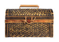 Ornate antique wooden treasure chest Stock Photos