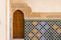 Ornate arabic door in alhambra Royalty Free Stock Photo