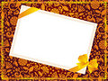 Ornate background with blank card and bow Royalty Free Stock Images