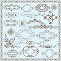 Ornate baroque set Royalty Free Stock Photo