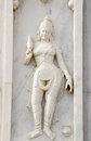 Ornate bas relief sculpture dancer exterior birla mandir hindu temple centre hyderabad andhra pradesh india Royalty Free Stock Image