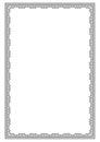 Ornate black rectangular frame, lattice pattern. Royalty Free Stock Photo