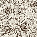 Ornate blue and white floral seamless pattern in gzhel style this is file of eps format Royalty Free Stock Images