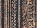 Ornate Brick Wall Moldings Royalty Free Stock Photo
