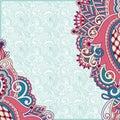 Ornate card flower background decorative vector illustration Royalty Free Stock Photo