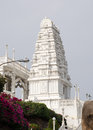Ornate carved stone tower at the hindu birla mandir temple in the centre of hyderabad andhra pradesh Royalty Free Stock Photography