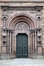 Ornate cathedral door artistic and architecture at a basel basel germany Stock Photos