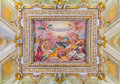 Ornate ceiling frescoes in a basilica in Rome Royalty Free Stock Photo