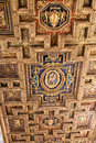 Ornate ceiling, Rome, Italy Royalty Free Stock Photo