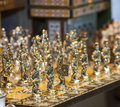 Ornate chess set Stock Image