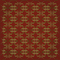 Ornate Christmas Colors Pattern Royalty Free Stock Image