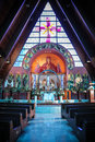 Ornate church altar Stock Images