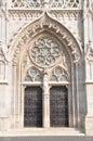 Ornate church door in Buda Royalty Free Stock Photo