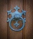 Ornate Church Door Knocker Royalty Free Stock Photo
