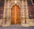 Ornate church door mexico city Royalty Free Stock Photo