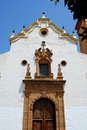 Ornate church entrance, Estepona. Royalty Free Stock Photo
