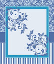 Ornate damask background Royalty Free Stock Photo