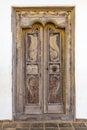 Ornate door in sri lanka Stock Image