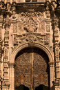 Ornate Door Valencia Church Guanajuato Mexico Royalty Free Stock Photo