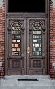 Ornate doorway in Brick Wall Stock Photos