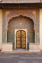 Ornate entrance doors at the city palace jaipur india built between and by sawai jai singh ii ruler of amber Stock Photos
