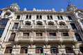 Ornate facade of an old apartment building in madrid spain Stock Photography