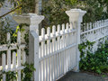 Ornate fence and gate details Stock Photo