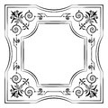 Ornate filigree frame black and white copy space Royalty Free Stock Photos