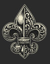 Ornate fleur de lis vector illustration Royalty Free Stock Image