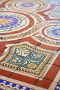 Ornate Floor Tiles Stock Photography