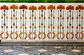 Floral ceramic tile frontage on a Chinese shop house Royalty Free Stock Photo