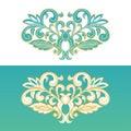 Ornate floral element for design.
