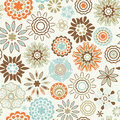 ornate floral seamless texture, endless pattern with flowers loo Royalty Free Stock Photo